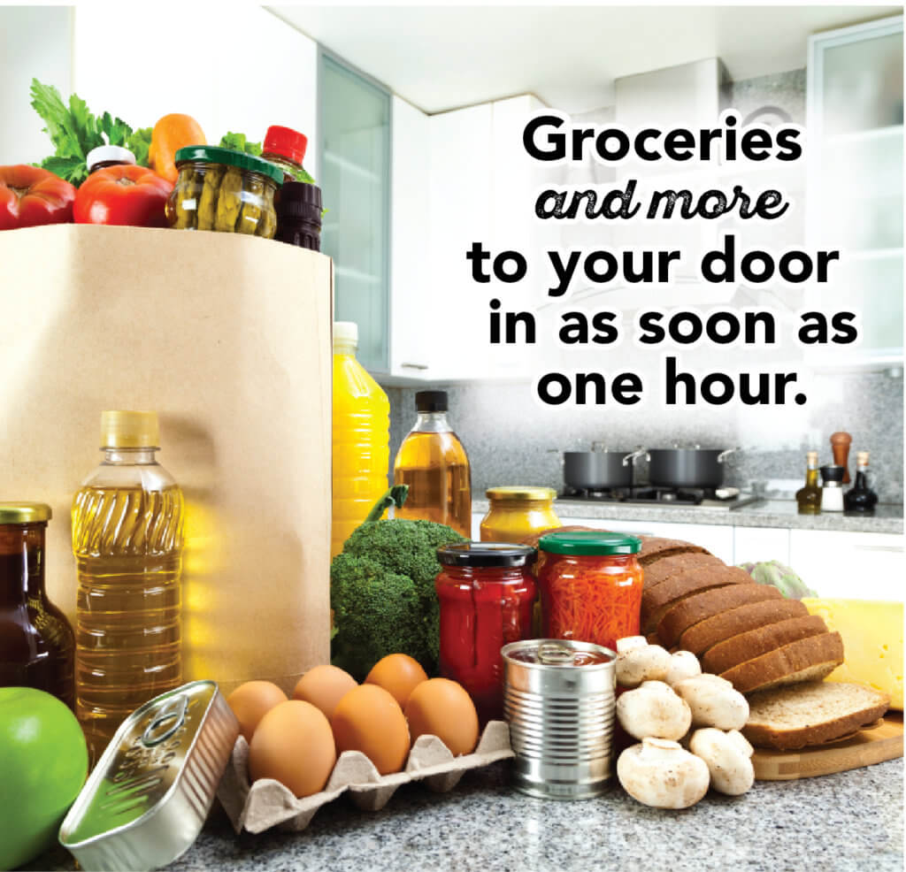 groceries on counter